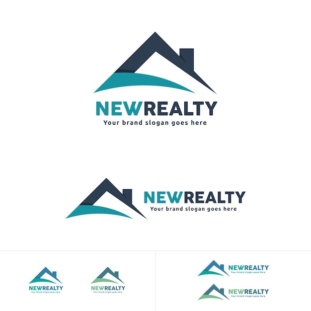 real estate logo house roof symbol residential brand