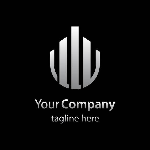 Шаблон логотипа недвижимости с абстрактным изотипом Premium векторы