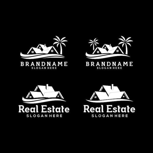 Real estate logo template Premium Vector