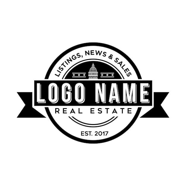 Real estate logo template vector premium download real estate logo template premium vector maxwellsz