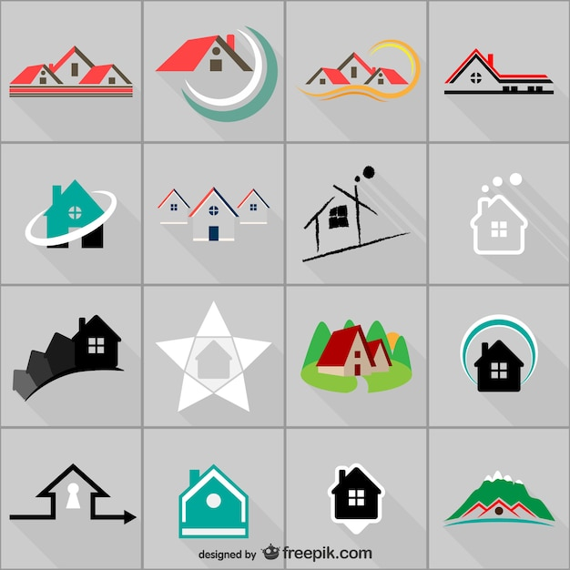 real estate logo templates vector free download