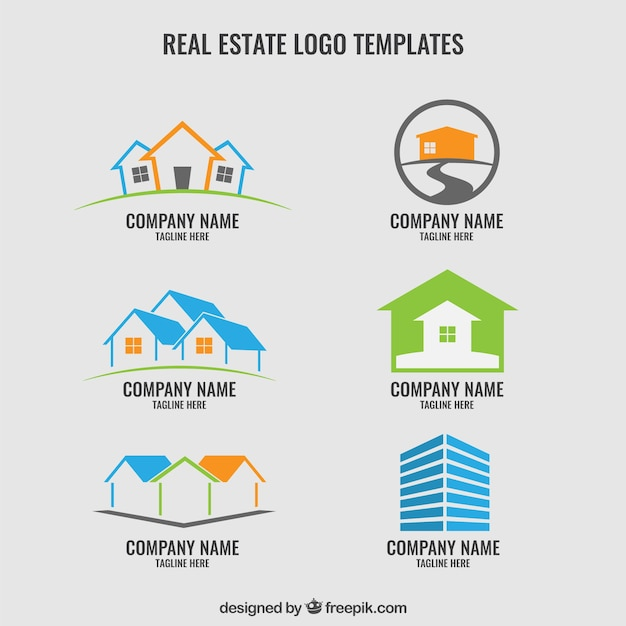 real estate logos template vector free download