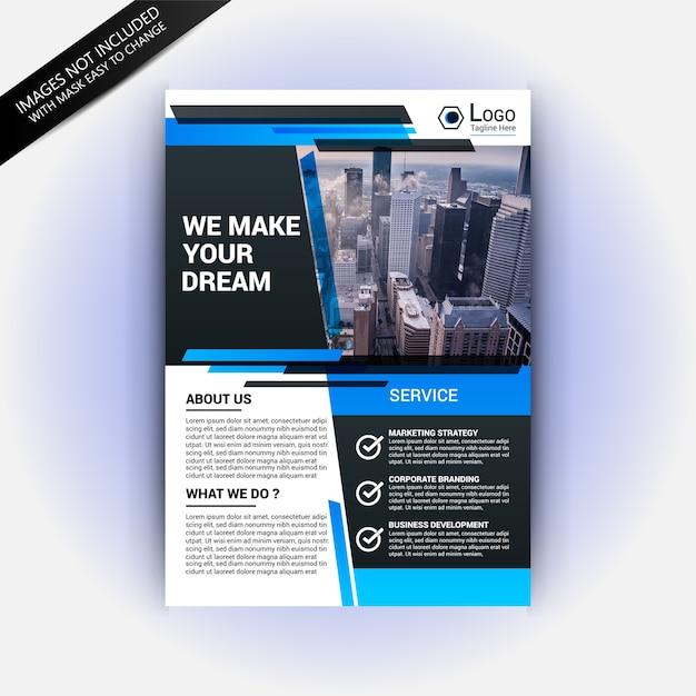Real estate magazine template vector   premium download.