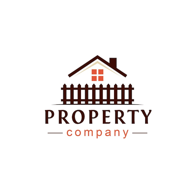 Real estate property logo design Premium Vector