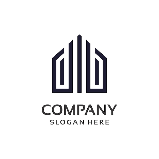 Real estate property logo design Premium Vector