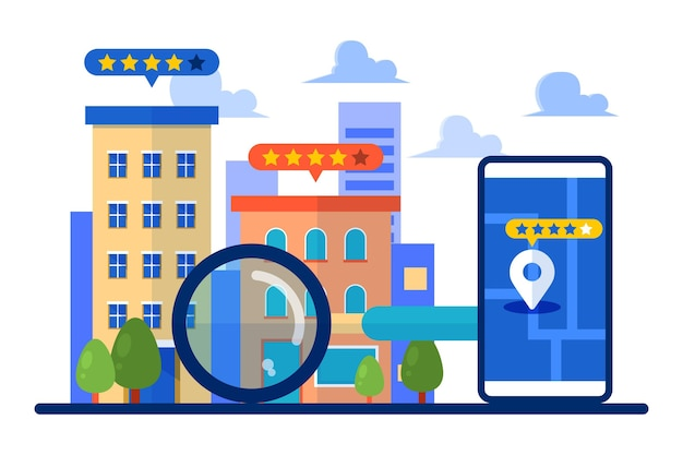 Real estate searching Free Vector