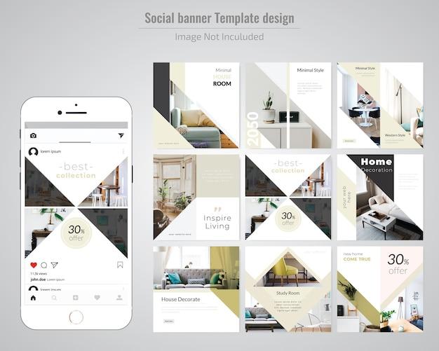 Real estate social media post template Vector | Premium Download