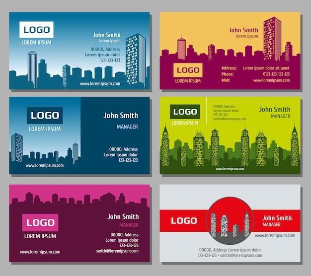 Real estate vector business card set Premium Vector
