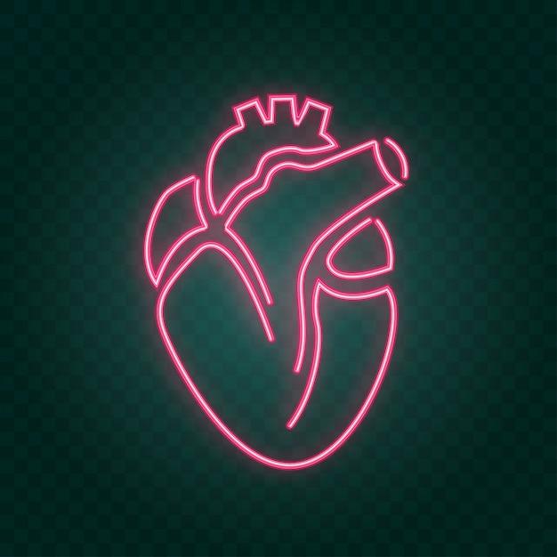 Real heart neon sign Vector | Premium Download