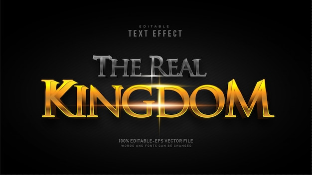 The real kingdom text effect Free Vector