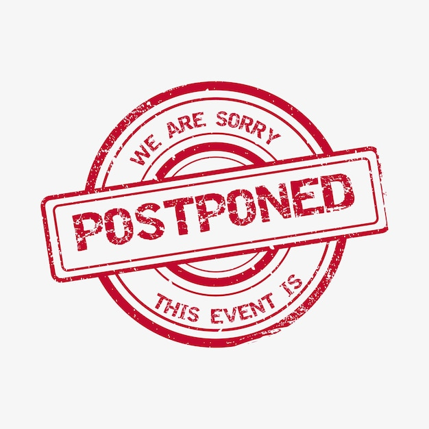 Realist postponed stamp illustrated Free Vector