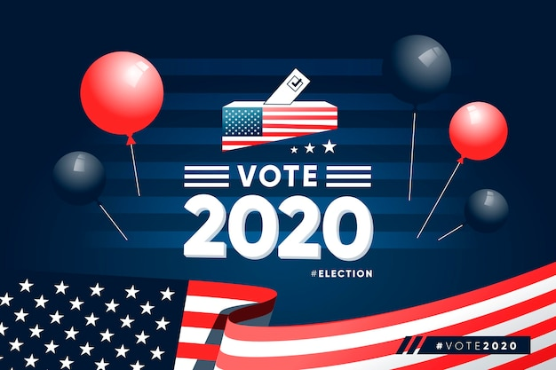 Реалистичные президентские выборы 2020 года в сша Бесплатные векторы