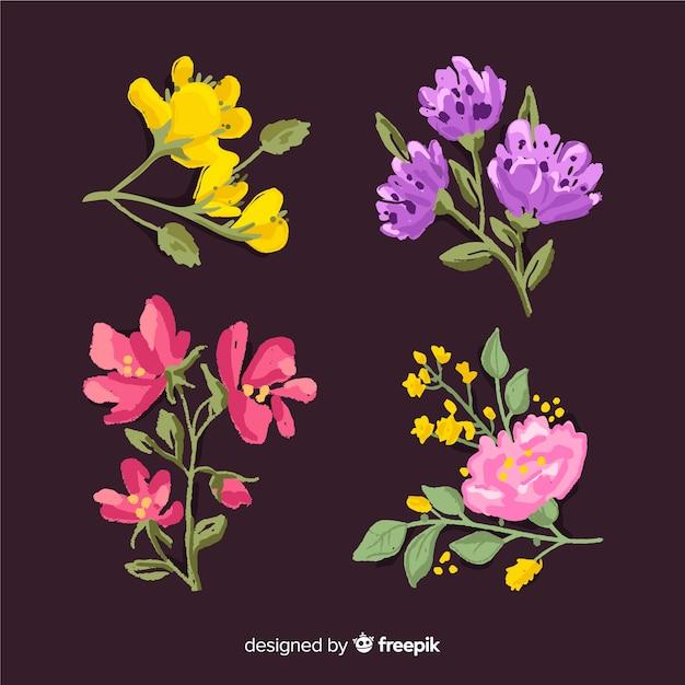 Realistic 2d floral bouquet Free Vector