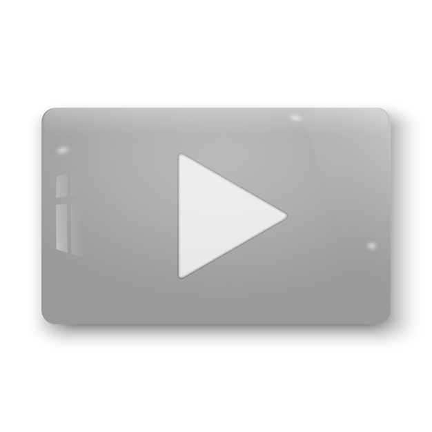 Realistic 3d play button. vector illustration Premium Vector