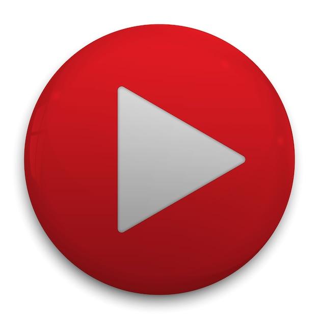 Realistic 3d play button. vector illustration Premium Vector