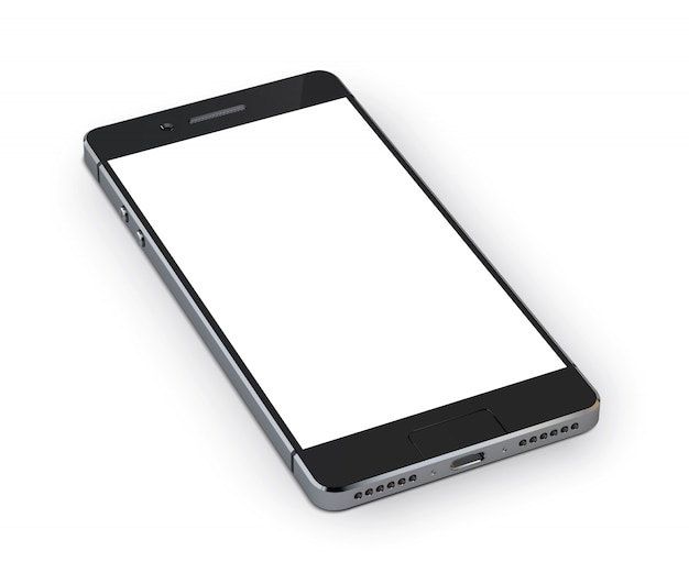 Realistic 3d smartphone mobile device Free Vector