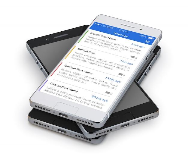 Realistic 3d smartphone Free Vector