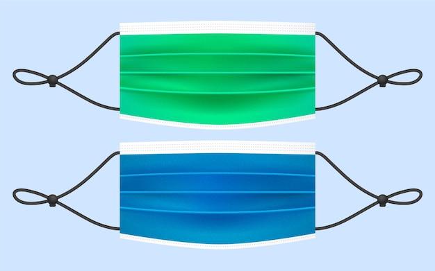 사실적인 조정 가능한 안면 마스크 끈 무료 벡터