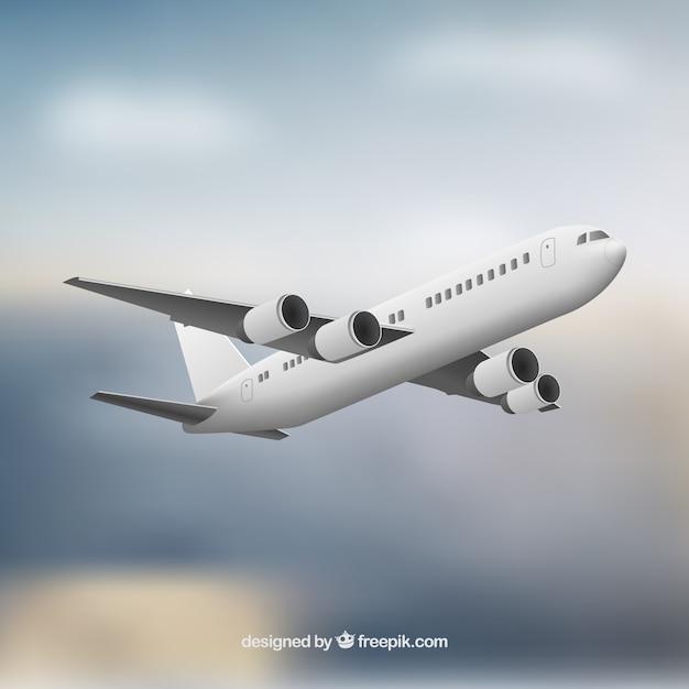 Realistic airplane Premium Vector