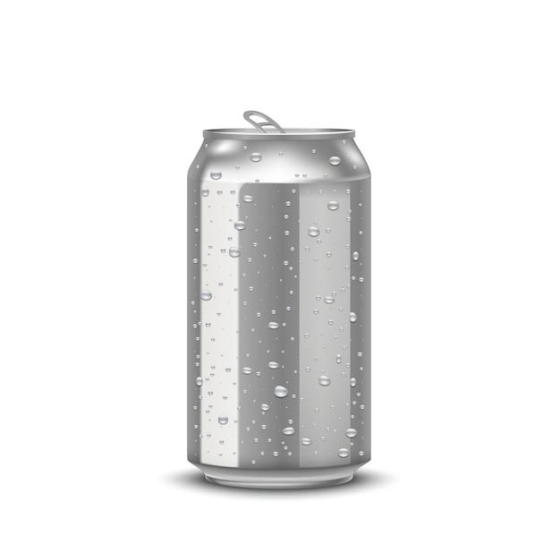 Realistic aluminum cans Premium Vector
