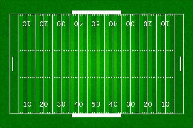Campo di calcio americano realistico Vettore gratuito