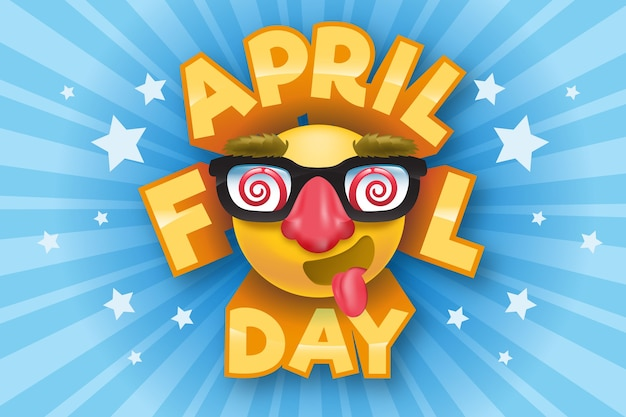 Realistic april fools day Free Vector