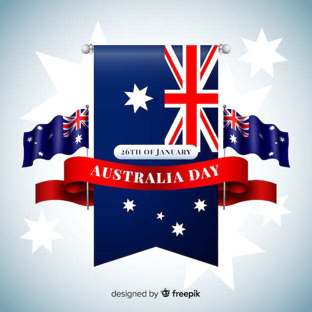 Realistic australia day background Free Vector