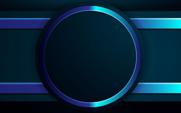 Realistic background black and blue light color design Premium Vector