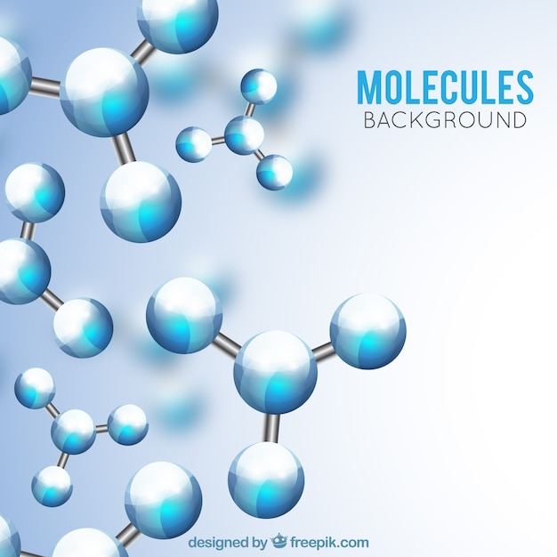 Realistic background of defocused molecules
