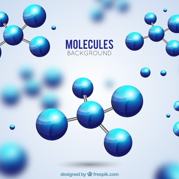 Realistic background of molecules with blur effect