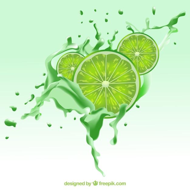 Lemon slices background