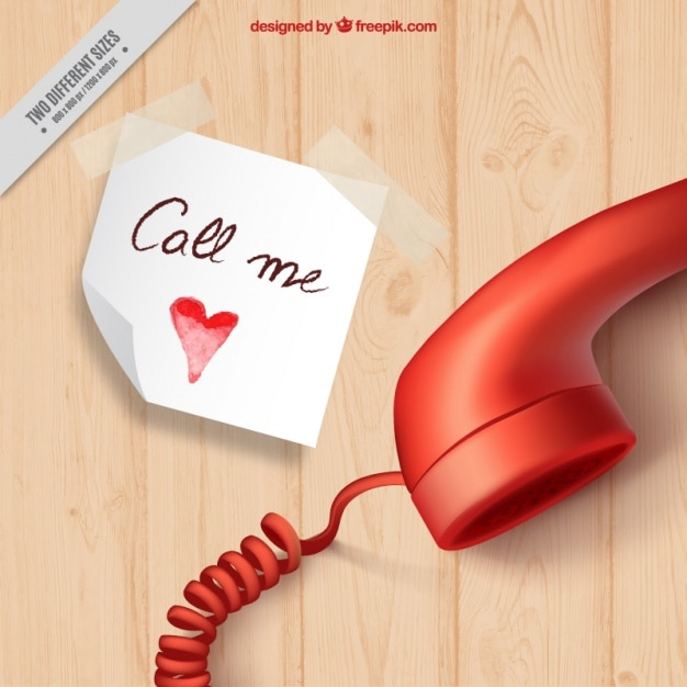 Realistic background with note and phone for valentine's day Free Vector