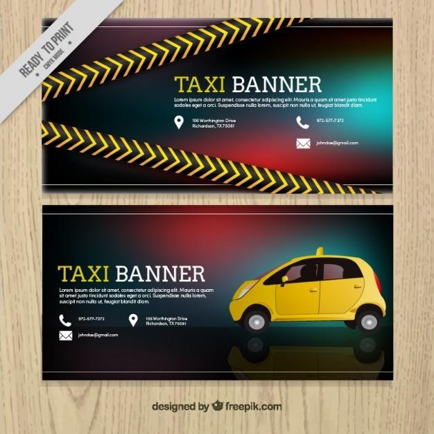 بنر های واقع بینانه برای تاکسی سرویس