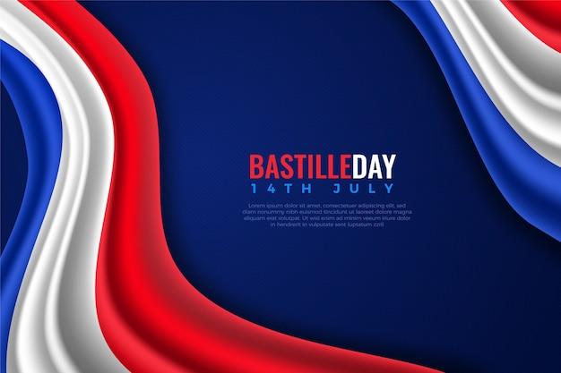 現実的なフランス革命記念日のコンセプト Premiumベクター
