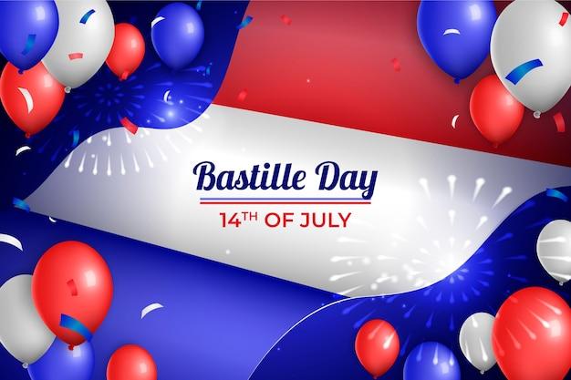 現実的なフランス革命記念日のコンセプト 無料ベクター