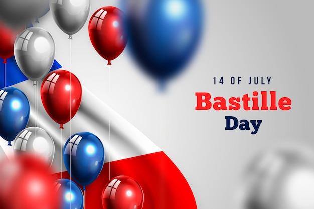 現実的なバスティーユの日デザイン 無料ベクター