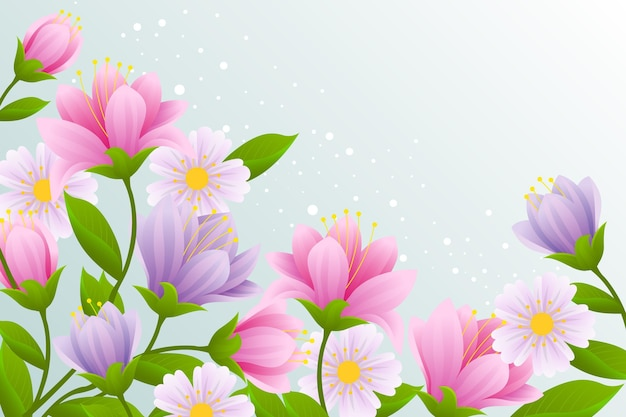 Realistic beautiful spring background Free Vector
