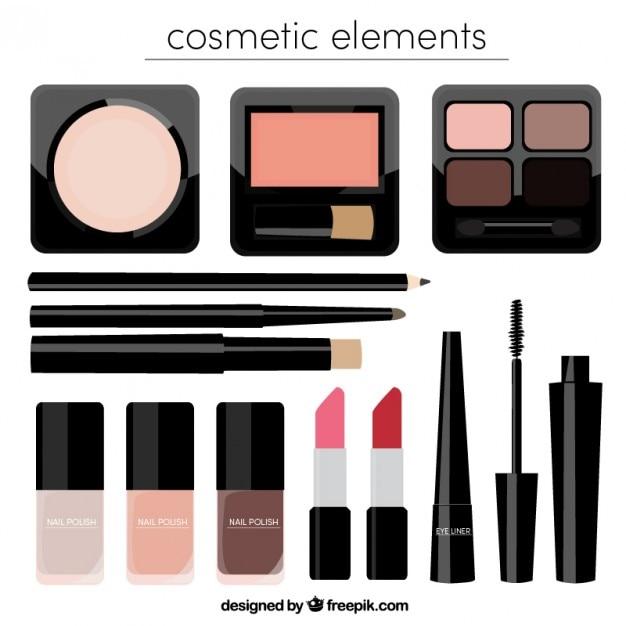Realistic beauty cosmetics Free Vector