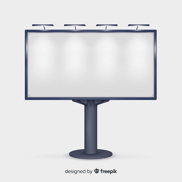 Realistic billboard background Free Vector