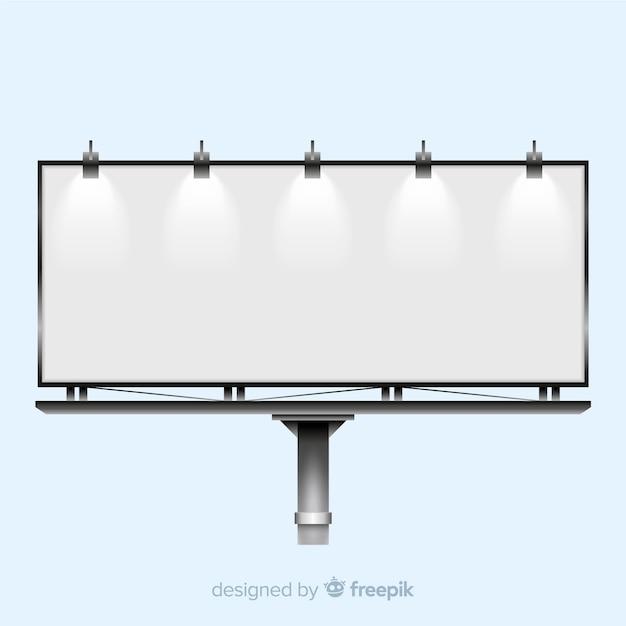 Realistic billboard background Free Vector