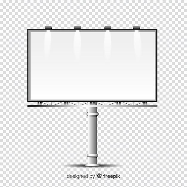 Realistic billboard template Free Vector