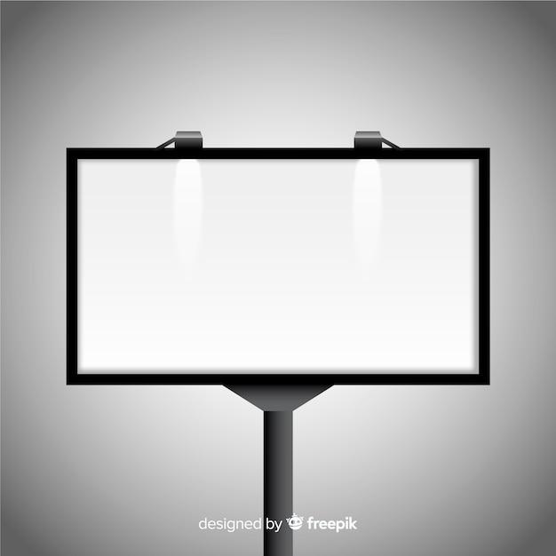 Realistic billboard Free Vector