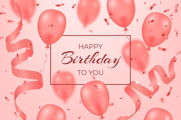 Realistic birthday background concept Free Vector