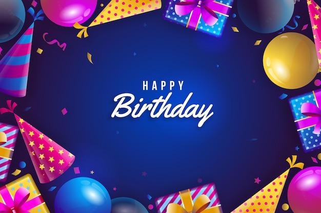 Реалистичный фон дня рождения Бесплатные векторы