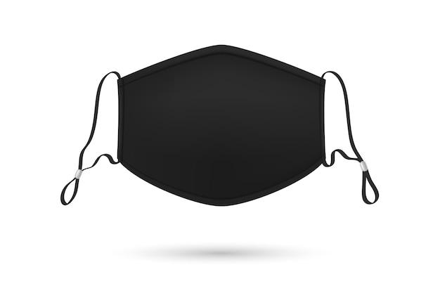 Cordino per maschera medicale regolabile nero realistico Vettore gratuito