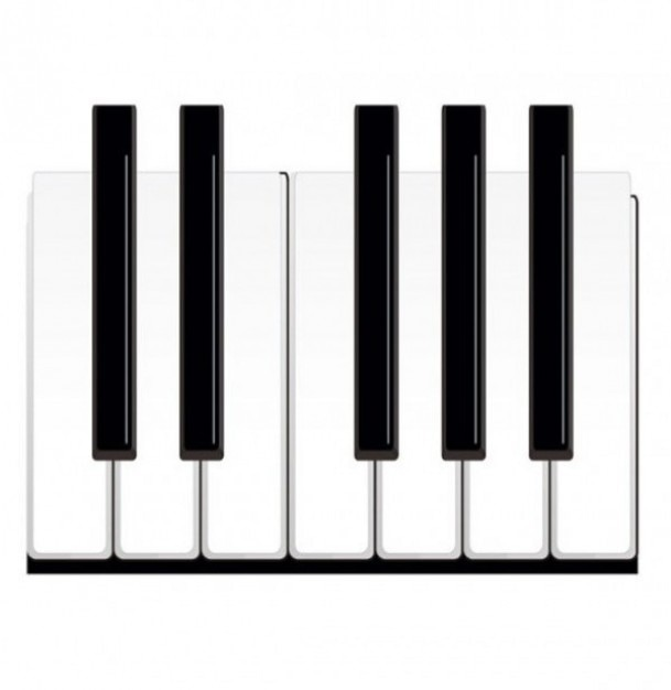 Piano Without Black Keys Black And White Piano Keys