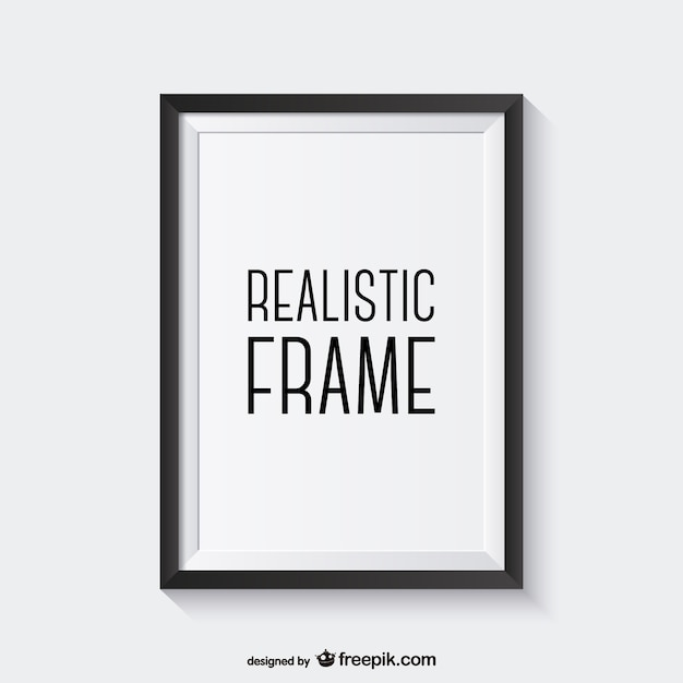 realistic black frame vector free download