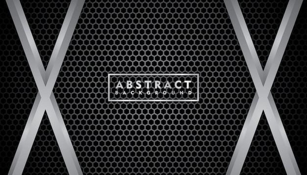 Realistic black metal texture Premium Vector