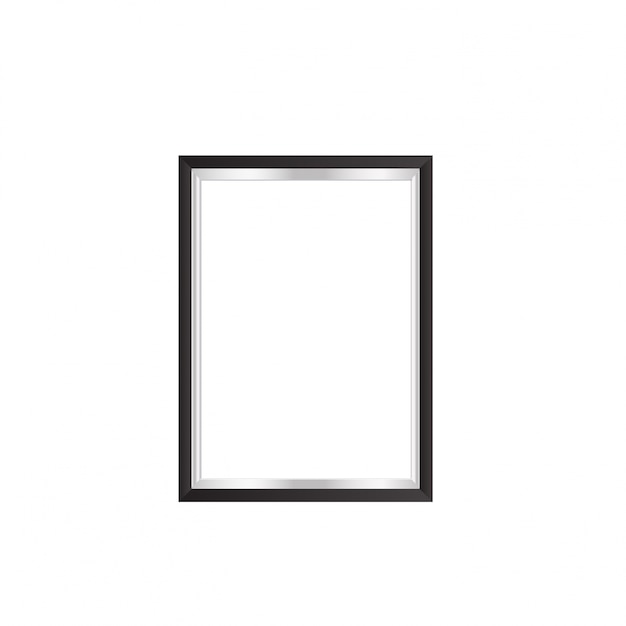 Realistic black and white frame Free Vector
