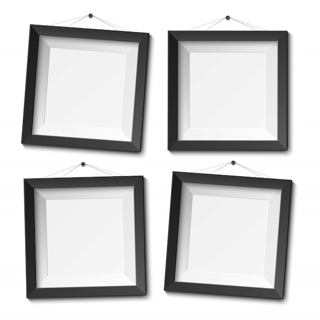 Realistic blank photo frame Premium Vector
